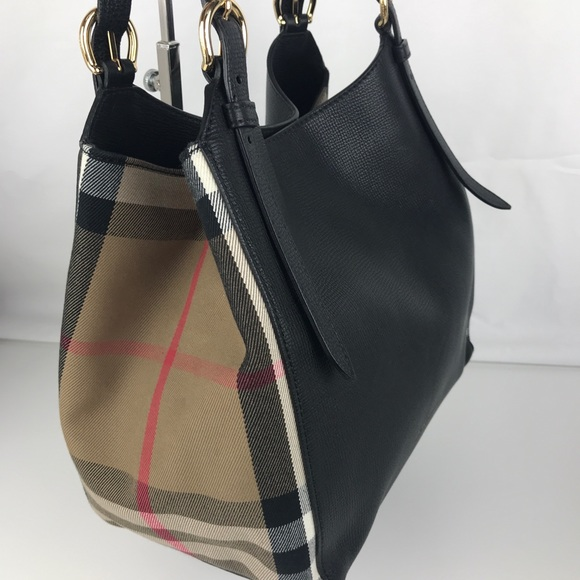 3a707e3fe497 Burberry Handbags - Burberry Small Canter House Check Leather Tote